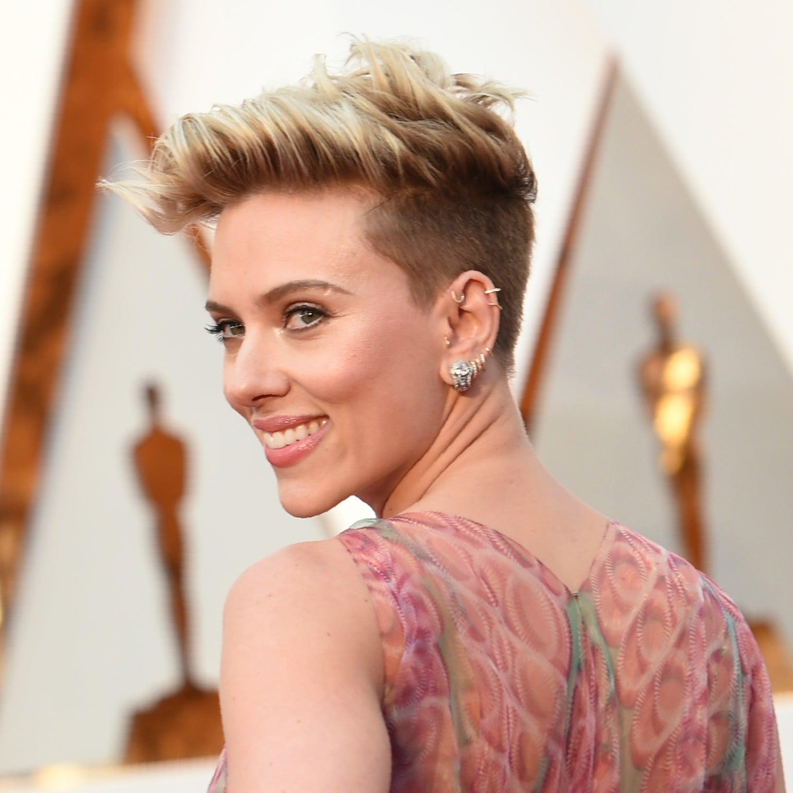 Scarlett Johansson\'s Hair and Makeup at the 2017 Oscars | POPSUGAR ...