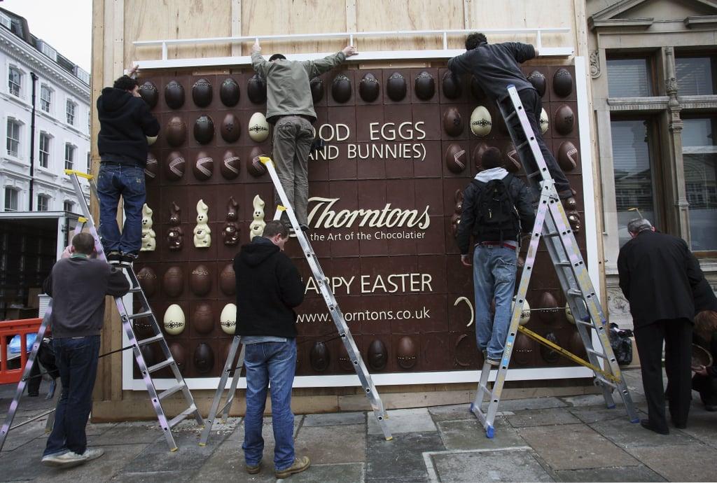 Chocolate Billboard Disappears Fast