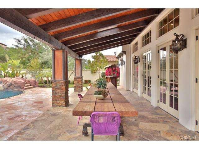French Doors Off The Living Room Open Up Directly Onto The