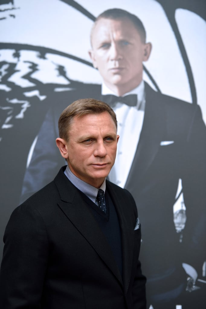 Daniel Craig posed for photos in Paris.
