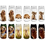 Lovely 3D Golden Retriever Ankle Socks