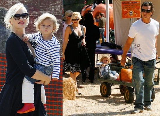 Gwen, Gavin and Kingston Head to the Pumpkin Patch