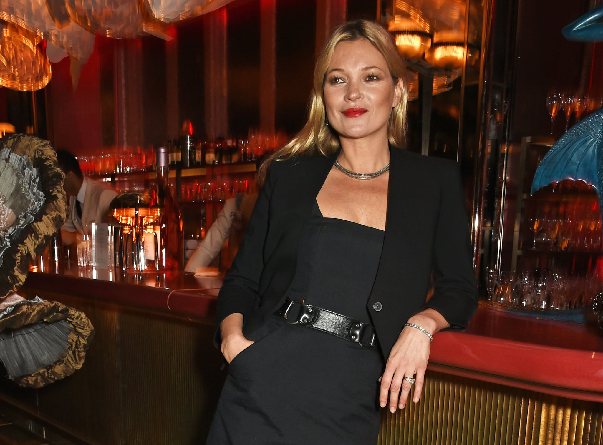 LONDON, ENGLAND - OCTOBER 08:  Kate Moss attends the launch of Sexy Fish, London in Berkeley Square on October 8, 2015 in London, England.  (Photo by David M. Benett/Dave Benett/Getty Images for Caprice Holdings Limited)