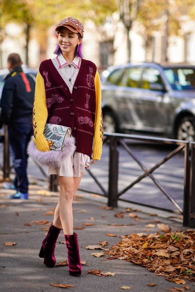 Get Fall Ready With a Pair of Red Velvet Boots
