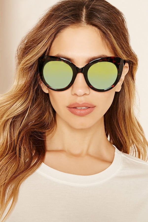 fa8ec70fbff Forever 21 Cat Eye Mirrored Sunglasses ( 8)