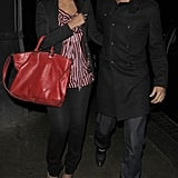 Photos of Rochelle Wiseman from The Saturdays and Marvin Humes from JLS on a Date in London