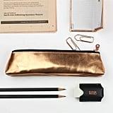 Undercover Metallic Leather Pencil Case