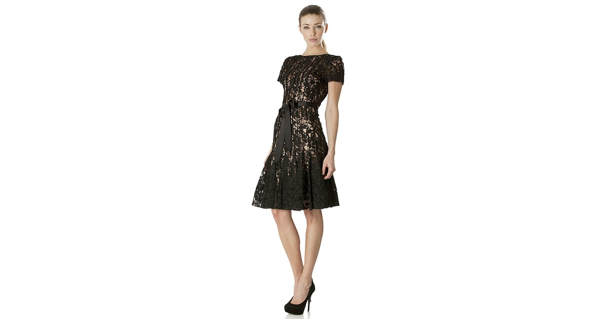 JS Collection Lace Fit-and-Flare Dress   Mother of the Bride Wedding ...