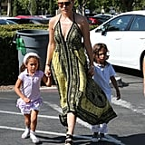 Jennifer Lopez took twins Emme and Max out for a shopping day on Sunday in LA.