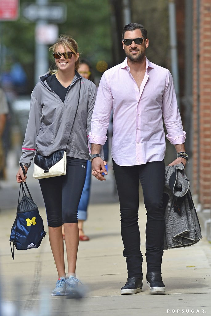 "Kate Upton and Maksim Chmerkovskiy made their first public outing as a couple when they walked hand in hand through the West Village neighborhood of NYC on Thursday. The pair seemed very happy and in love as they smiled and chatted during their stroll. Kate and Maksim, who has become famous for his work on Dancing With the Stars, were first linked in June when Kate was rumored to have celebrated her 21st birthday with the Ukranian hunk. They were reportedly spotted out on dates together around Manhattan and in the Hamptons, where Kate was filming The Other Woman with Cameron Diaz and Leslie Mann, over the Summer. When Kate was asked about her relationship with Maksim at the Style Awards earlier this month, the glowing model told reporters, ""We're just friends"" — but we can likely take this latest PDA-filled city spin as confirmation that the two are definitely an item."