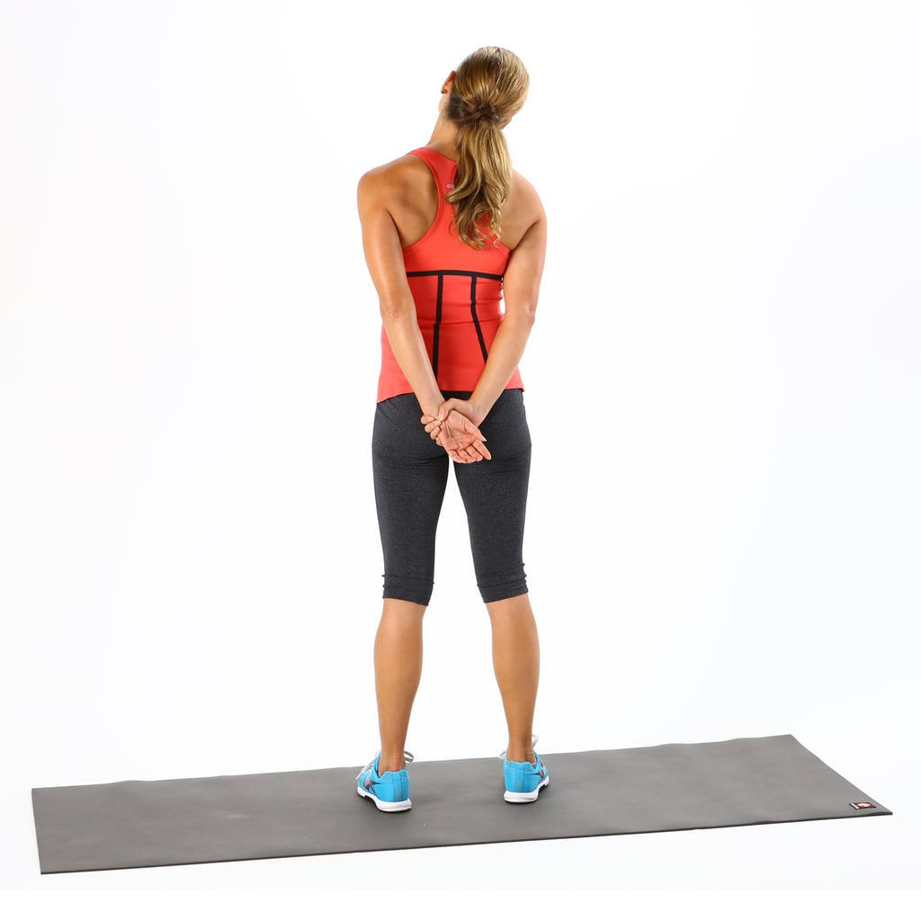 Desk Stretches To Relieve Neck And Shoulder Tension Popsugar Fitness