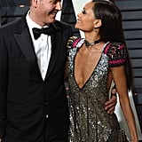 Thandie Newton and Ol Parker at Vanity Fair's Oscars Party, 2017