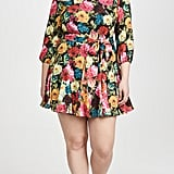 Alice + Olivia Mina Puff Sleeve Godet Dress with Belt