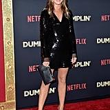 Jennifer Aniston Stella McCartney Sequin Dress December 2018