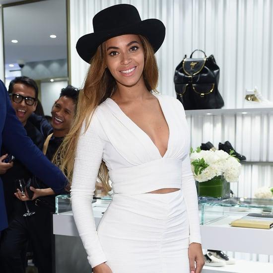 Beyonce Wearing White Bec & Bridge Giuseppe Zanotti Opening