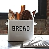 Creative Co-op Enameled Metal Distressed White Bread Box With Lid