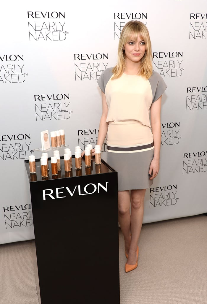 Emma Stone was on hand to help Revlon launch its new makeup line in NYC.
