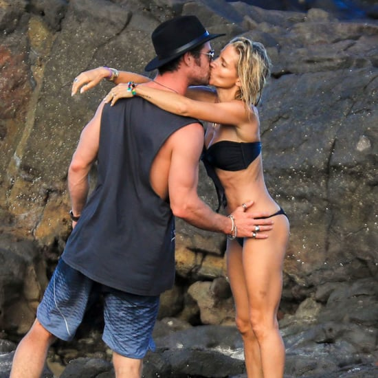 Chris Hemsworth and Elsa Pataky Kiss on the Beach April 2018