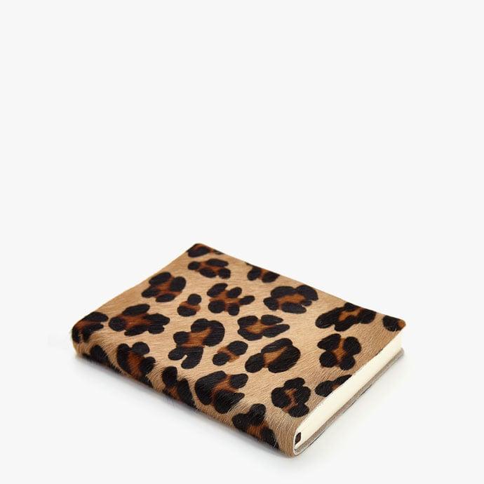 Zara Home Leather Leopard Diary