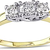 JCPenney Yellow Gold Three-Stone Engagement Ring