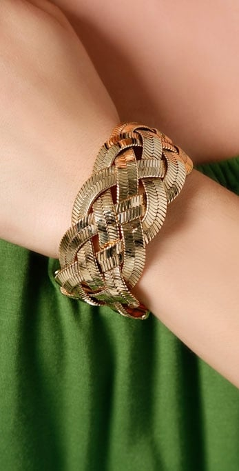 Juicy Couture Braided Chain Wide Bracelet