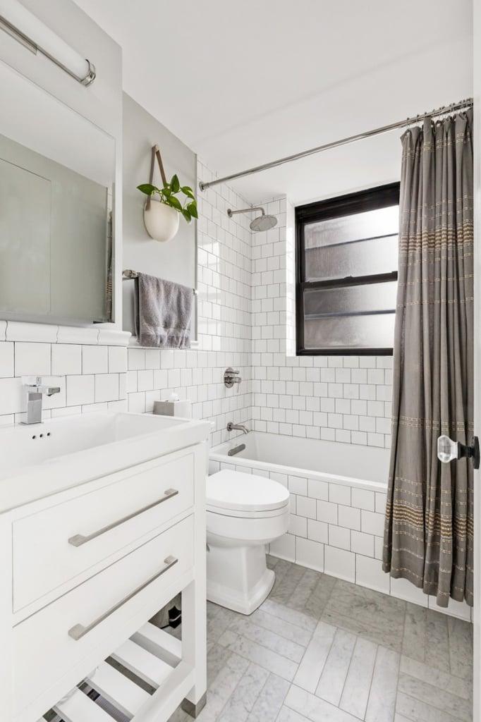 Sleek and White | Small Bathroom Design Ideas | POPSUGAR ... on White Bathroom Design Ideas  id=36799
