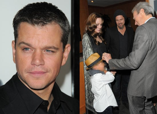 Photos from the Invictus Premiere in Los Angeles, with Brad Pitt, Angelina Jolie, Clint Eastwood, Morgan Freeman, Matt Damon
