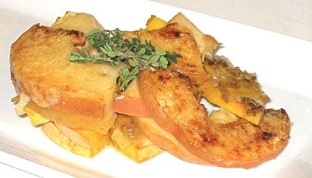 Healthy Recipe: Apple, Leek, and Butternut Squash Gratin