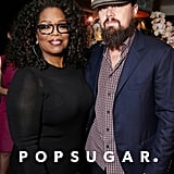 Oprah Winfrey and Leonardo DiCaprio came face-to-face at a party for the Oscar-nominated documentary Virunga.