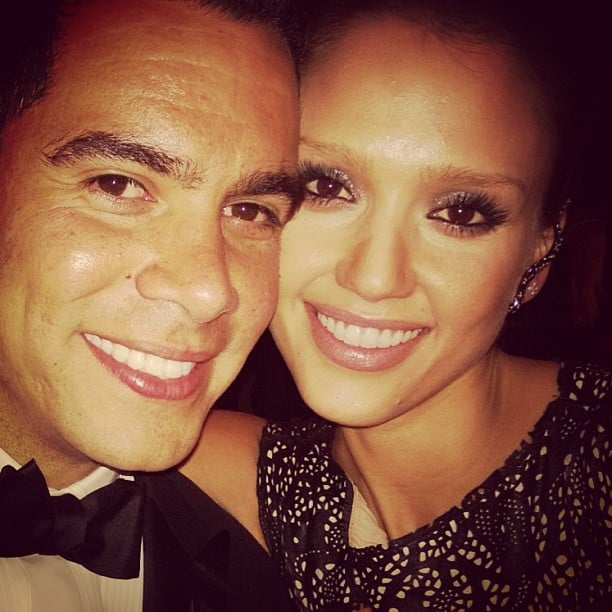 Jessica Alba and Cash Warren squeezed in for a sweet pic. Source: Instagram user jessicaalba