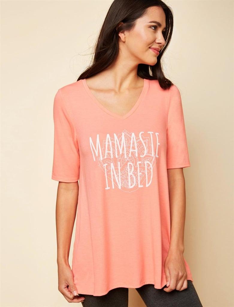 Motherhood Maternity Nursing Sleep Top