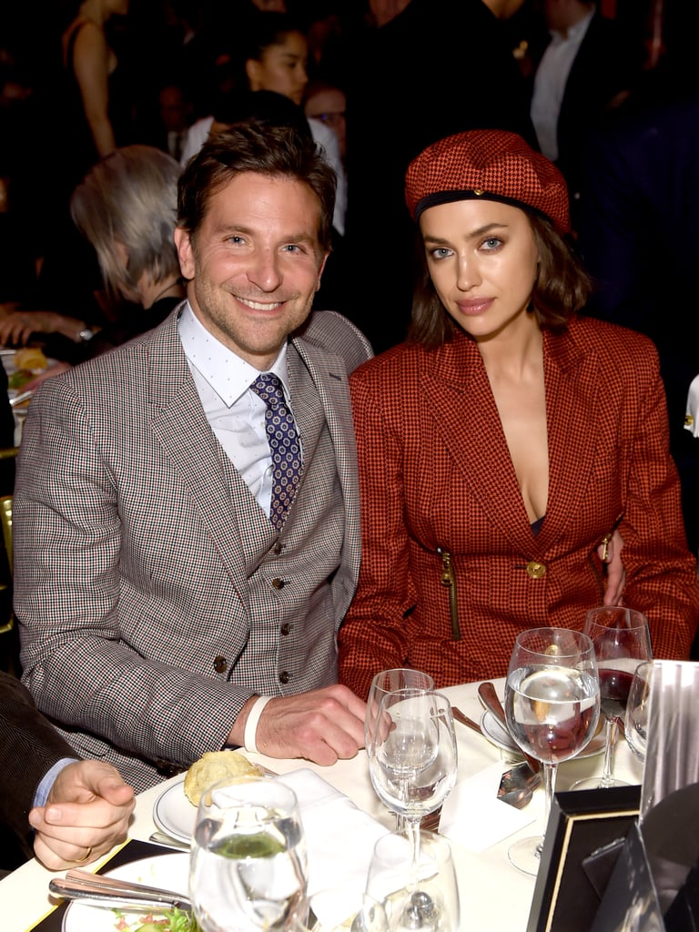 Irina Shayk Red Blazer Dress With Bradley Cooper
