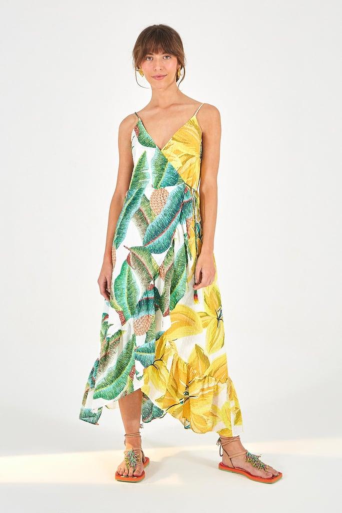 Farm Rio Azalea Forest Wrap Dress