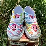 Baby Pink Shark Custom Vans