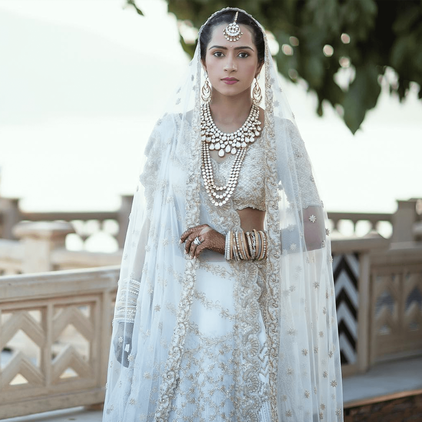 White Indian Wedding Dresses 12 Good A Bride Embroidered Her
