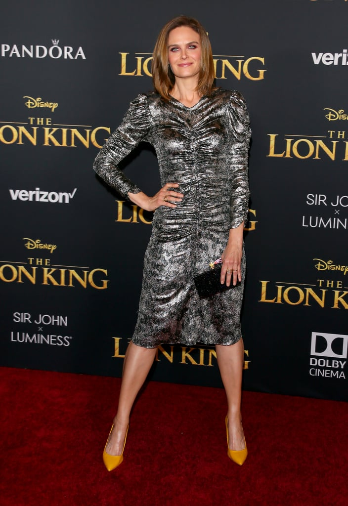 Pictured: Emily Deschanel at The Lion King premiere in Hollywood.