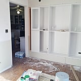 Step 10: Drywall Around the Bookcases