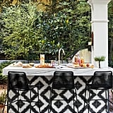 We love how Hilary brought the black-and-white pattern from her kitchen into her outdoor space.