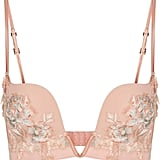 Peony Nude Embroidered Non-Wired V-Bra