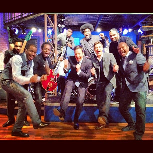 Ryan Seacrest joined pal Jimmy Fallon and The Roots on the Late Night set. Source: Instagram user ryanseacrest
