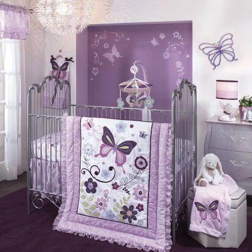 Lambs & Ivy Butterfly Lane Crib Bedding Set