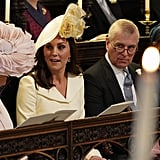 Camilla, Duchess of Cornwall; Kate Middleton, Prince Andrew, and Princess Beatrice