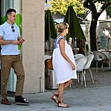 Reese Witherspoon walked in LA with husband Jim Toth.