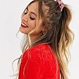 ASOS Design Holidays Scrunchie in Candy Cane Stripe