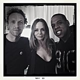 Before the Met Gala, Stella McCartney spent time with her close friends Chris Martin and Jay-Z. Source: Instagram user stellamccartney