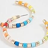 Roxanne Assoulin Golden Rainbow U-Tube Hoop Earrings