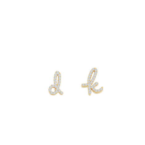 Tiary The Love Letter Pavé Earrings