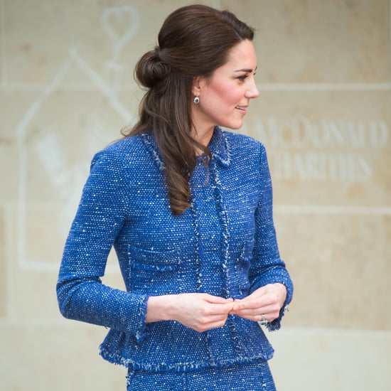 The Duchess of Cambridge's Blue Rebecca Taylor Suit