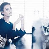 Mila Kunis models a stunning snakeskin Dior shoulder bag. Source: Fashion Gone Rogue