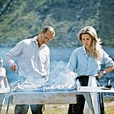 Princess Anne often helped her father Prince Philip run the BBQ
